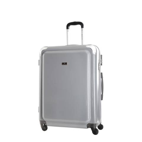 Platinium Grey Robinson 4 Wheel Suitcase 55.5cm
