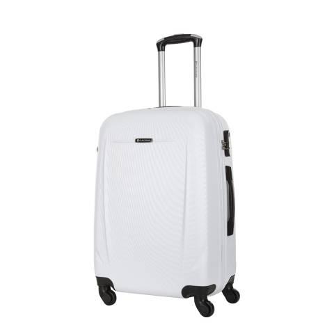 Platinium White Bedford 4 Wheel Suitcase 60cm