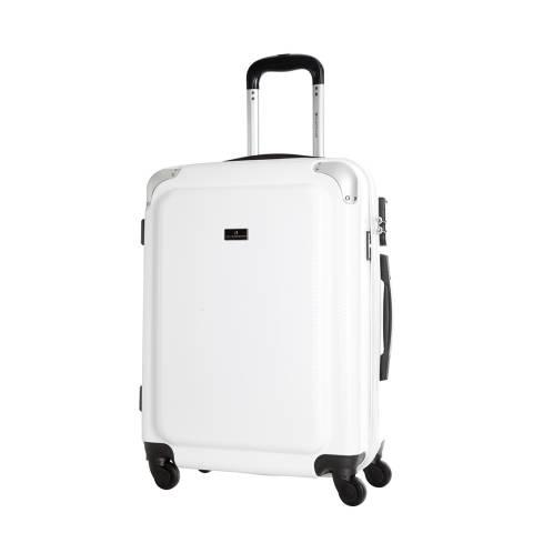 Platinium White Robinson 4 Wheel Suitcase 60cm