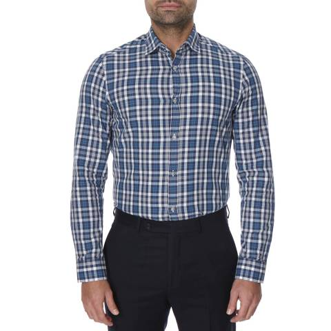 Oliver Sweeney Blue/Grey Check Stanway Shirt