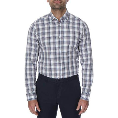 Oliver Sweeney Grey Check Stanway Shirt