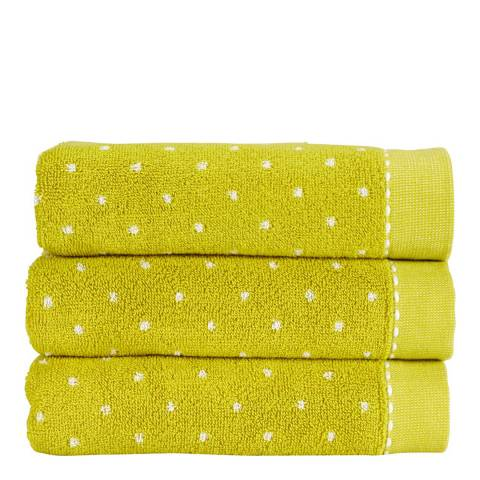 Kingsley by Christy Chartreuse Bridget Hand Towel