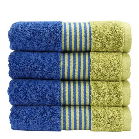 Kingsley by Christy Electric Blue/Kiwi Duo Bath Towel