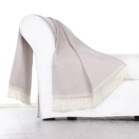 Lanerossi Beige Colosseo Cashmere/Wool Blend Throw 130x170cm