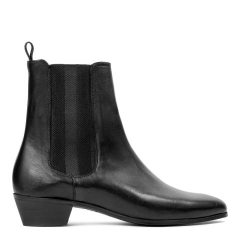 Hudson Black Leather Kenny Boots