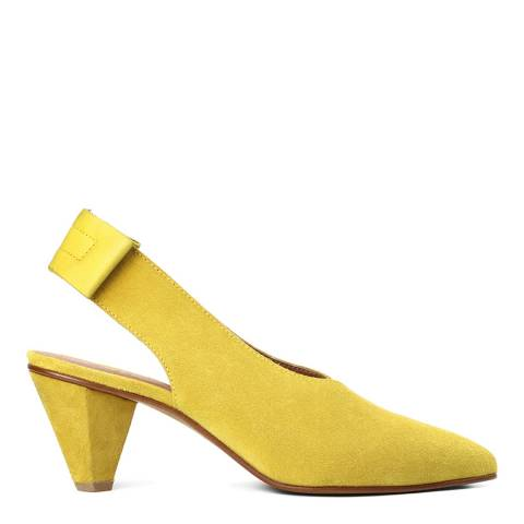Hudson Yellow Suede Dorothea Slingback Shoes