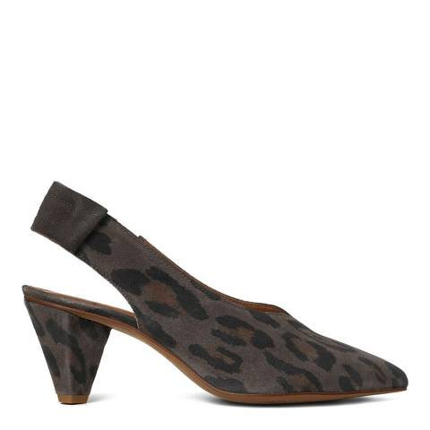 Hudson Grey Suede Dorothea Slingback Shoes