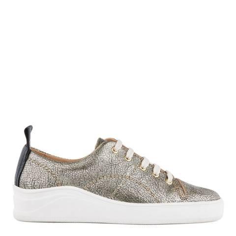 Hudson Gold Leather Sierra Monochrome Pony Sneakers