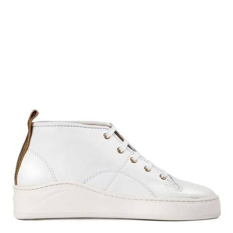 Hudson White Leather Odessa Sneakers