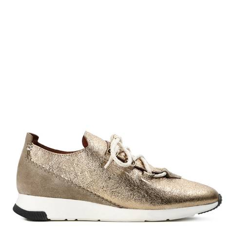 Hudson Gold Leather Seville Sneakers
