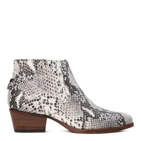 Hudson Grey Earnest Snake Boots