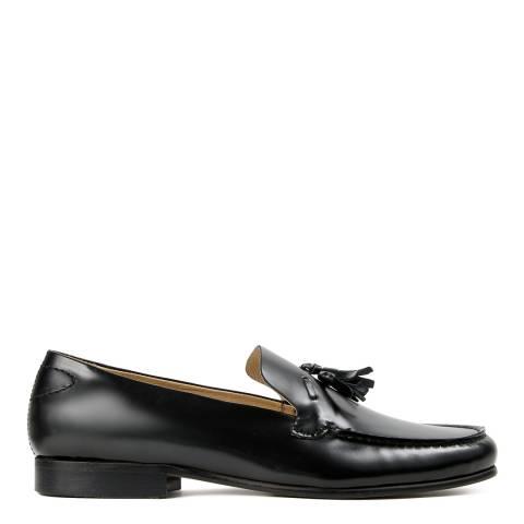 Hudson Black Leather Bernini Hi Shine Loafer