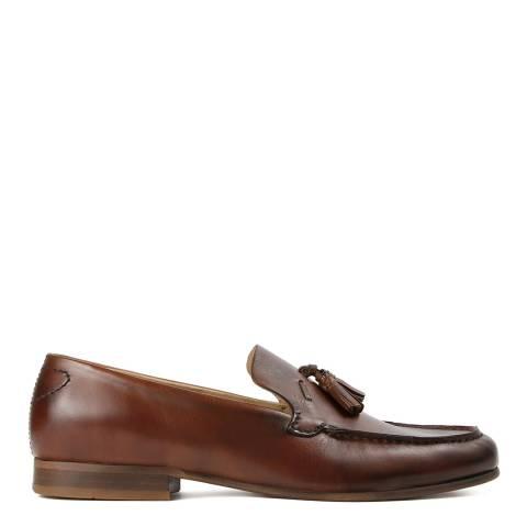 Hudson Tan Leather Bernini Loafer