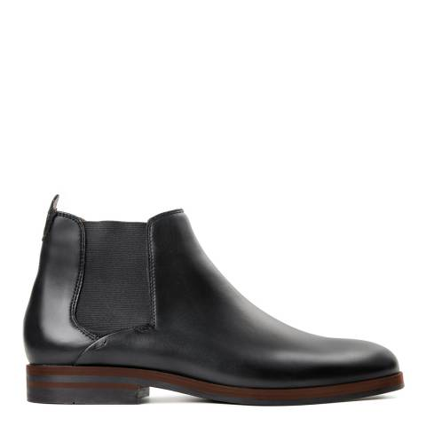 Hudson Black Leather Tonti Chelsea Boots