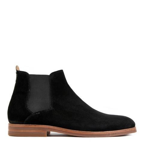 Hudson Black Suede Tonti Chelsea Boots