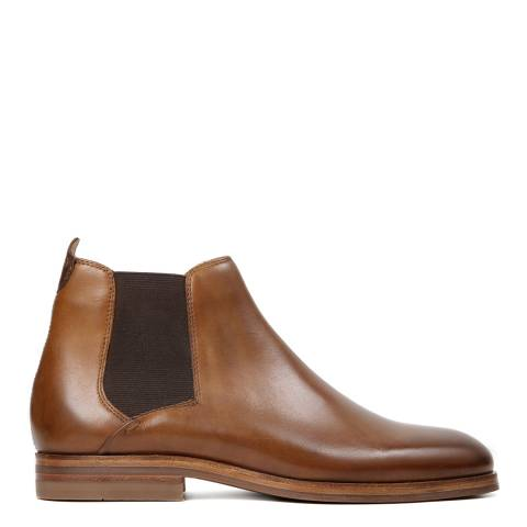 Hudson Tan Tonti Leather Chelsea Boot