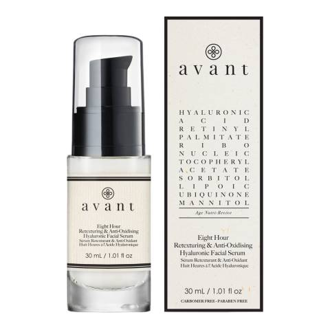 Avant Skincare 8 Hour Antioxidising and Retexturing Hyaluronic Facial Serum 30ml