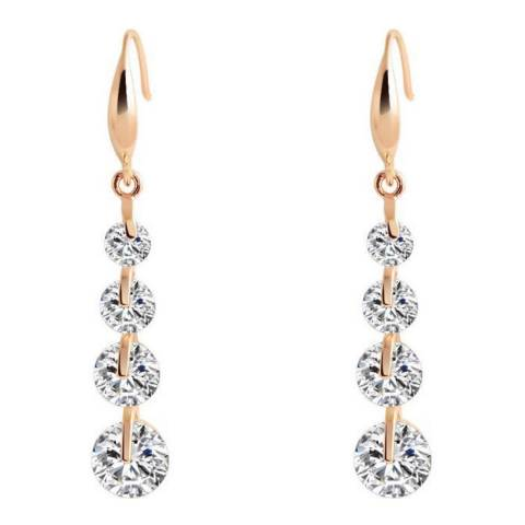Black Label by Liv Oliver Rose Gold Cubic Zirconia Drop Earrings