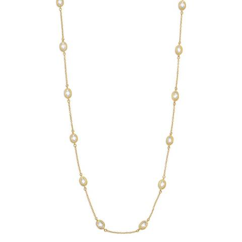 Black Label by Liv Oliver Gold Cubic Zirconia Necklace