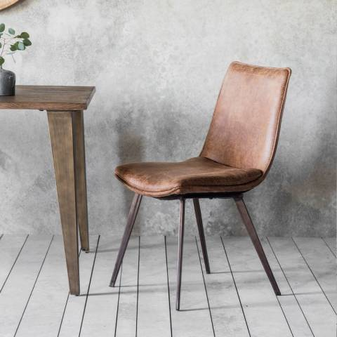Gallery Set of 2 Hinks Chair Brown