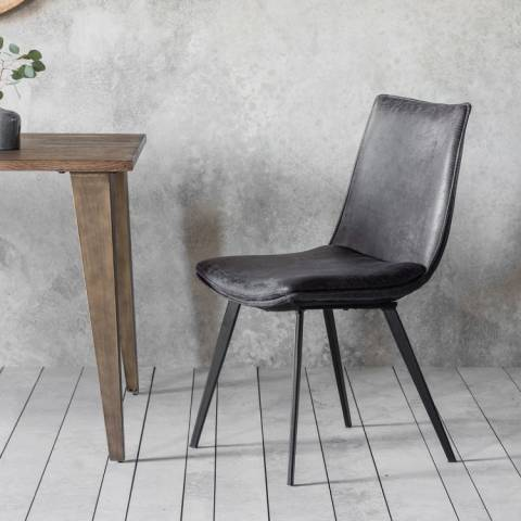 Gallery Set of 2 Hinks Chairs, Grey