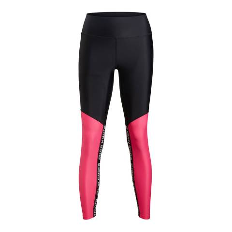 BJORN BORG Women's Pink/Black Clara High Waist Tights