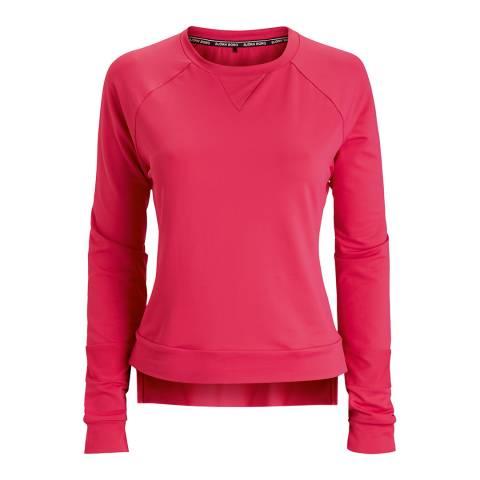 BJORN BORG Women's Pink Long Sleeve Caroline Sweater