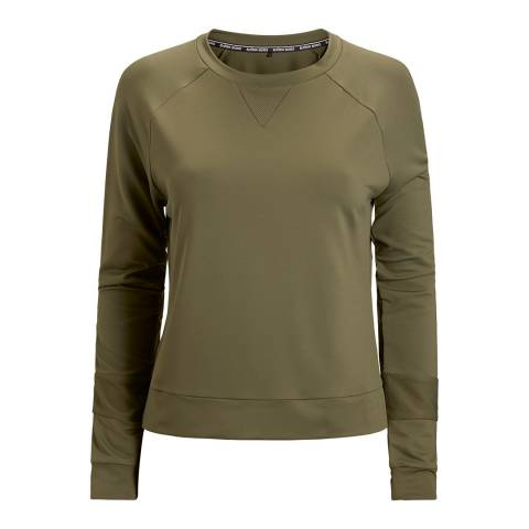 BJORN BORG Women's Green Long Sleeve Caroline Sweater