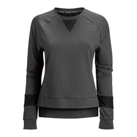 BJORN BORG Women's Grey Long Sleeve Caroline Sweater