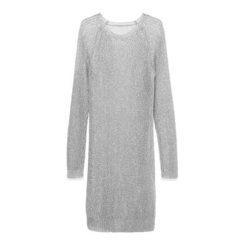 Zoe Karssen Silver Metallic Yarn Dress