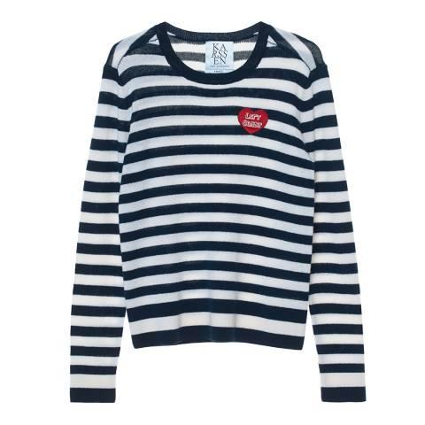 Zoe Karssen Navy/White Left Coast Sweater