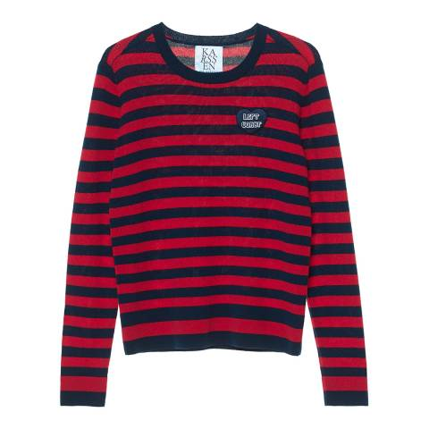 Zoe Karssen Navy/Berry Left Coast Cashmere Jumper