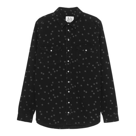 Zoe Karssen Denim Black Stars All Over Shirt