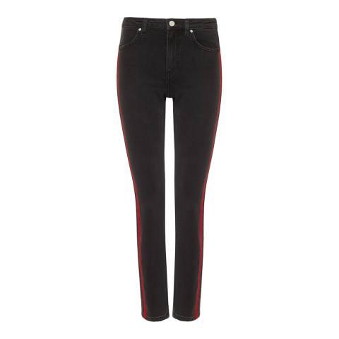 Zoe Karssen Denim Black Acid Flock Jeans