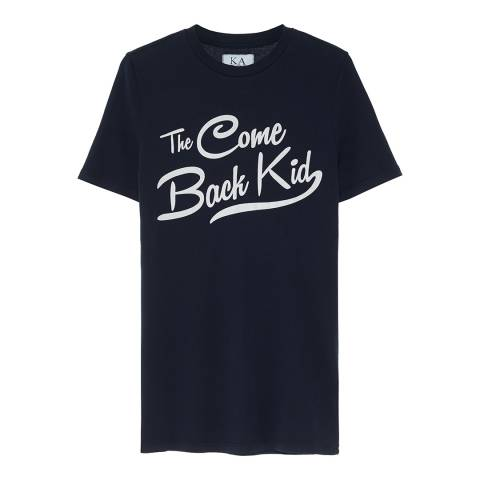 Zoe Karssen Navy The Come Back Kid Cotton T-Shirt