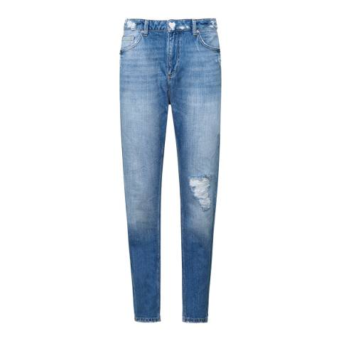 Zoe Karssen Blue I Love Bikers Jeans