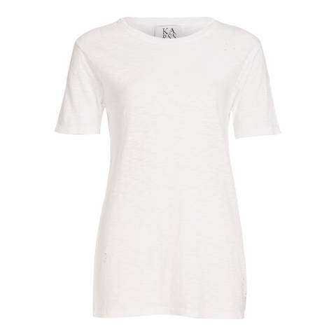 Zoe Karssen Optical White Destroyed T-Shirt