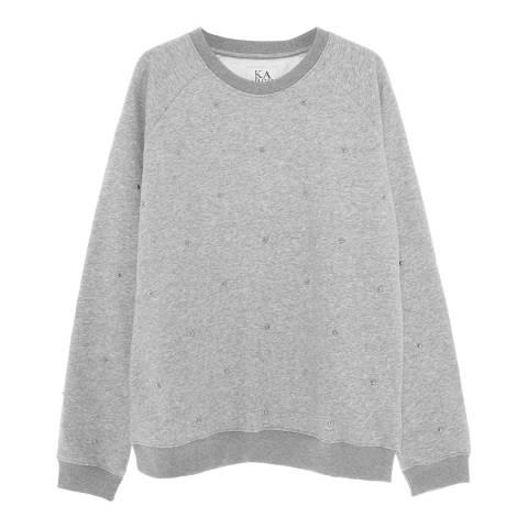 Zoe Karssen Grey Heather Studs All Over Sweatshirt