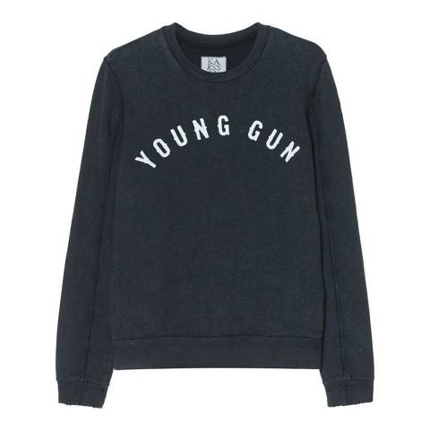 Zoe Karssen Slate Young Gun Cotton Sweatshirt