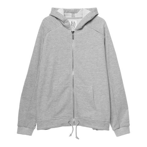 Zoe Karssen Grey Heather Bat Cotton Hoodie
