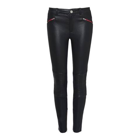 Zoe Karssen Black Zip Detail Skinny Trousers