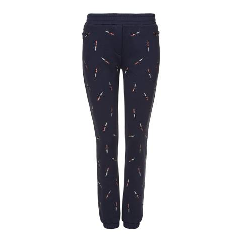Zoe Karssen Navy Embroidered All Over Joggers
