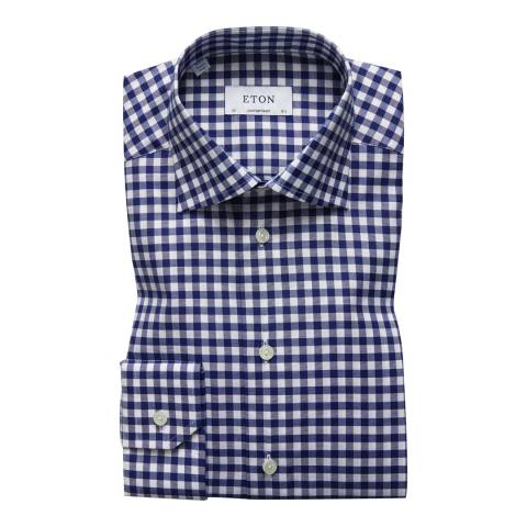 Eton Shirts Blue/White Conteporary Check Shirt