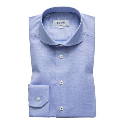 Eton Shirts Blue Weave Slim Shirt