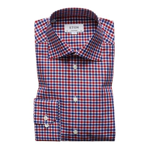 Eton Shirts Navy/Red/White Contemporary Check Shirt