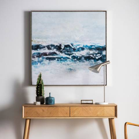 Gallery Pacific Ocean Waves Framed Art 102.5x102.5cm