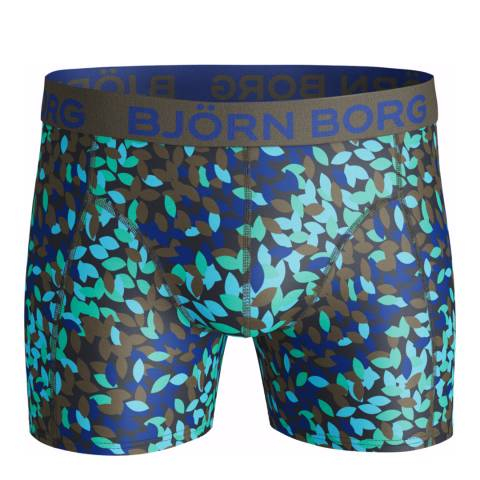 BJORN BORG Men's Blue/Green Boxer Shorts