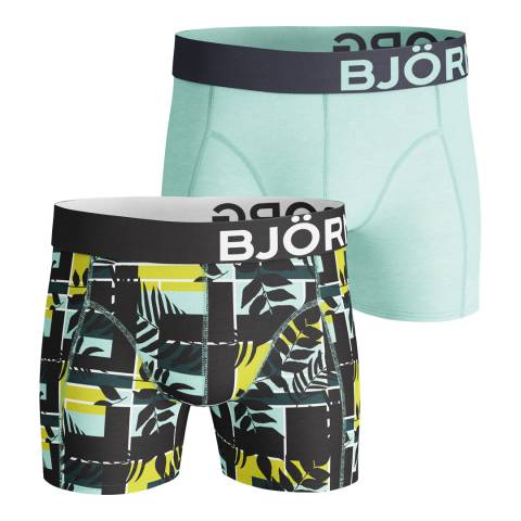 BJORN BORG Men's Multicoloured Courtline Shade 2-Pack Boxer Shorts