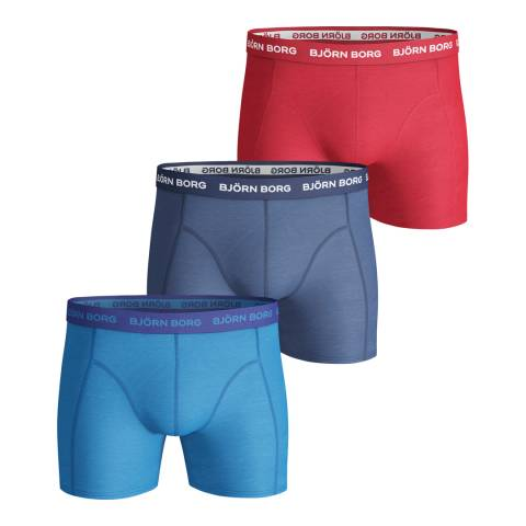 BJORN BORG Men's Multicoloured 3-Pack Boxer Shorts