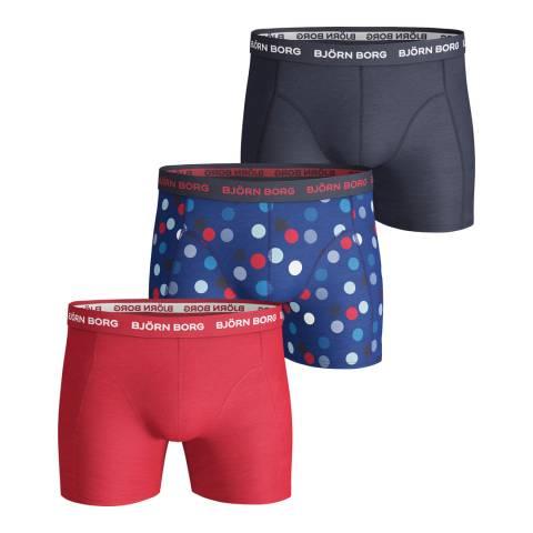 BJORN BORG Men's Multicoloured 3-Pack Boxer Shorts